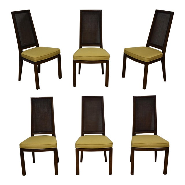 42fb8b2b56371 Henredon Cane Back Dining Chairs - Set of 6 For Sale