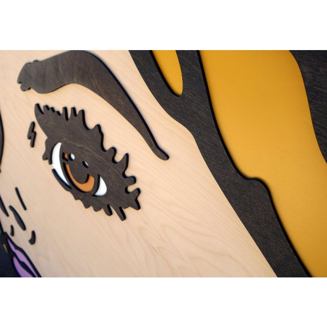 Mitch McGee Forever and a Day Pop Art Painting on Birch Wood For Sale - Image 4 of 7