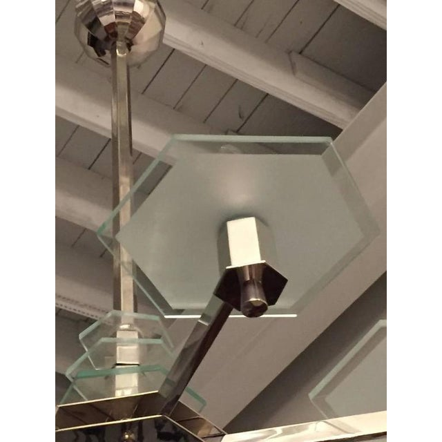 Art Deco French Art Deco Six-Arm Modernist Chandelier For Sale - Image 3 of 7