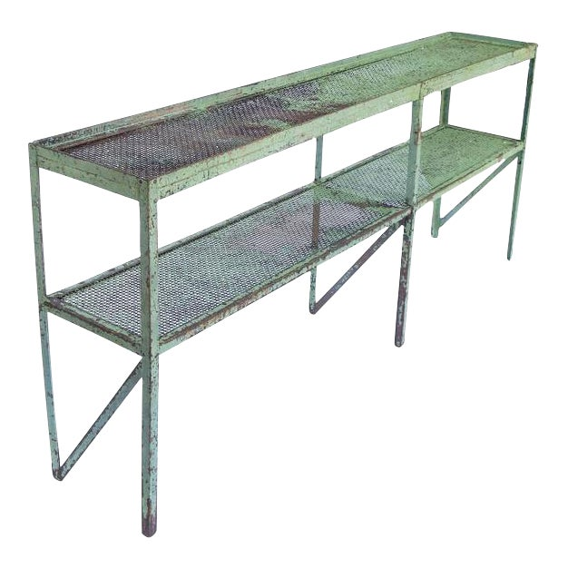 Long Narrow Industrial Mesh Console - Image 1 of 11