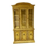 Image of 1970s Vintage Thomasville Faux Bamboo China Cabinet For Sale
