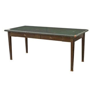 Steel Shaw Walker Table W/ Faux Wood Grain Base Circa 1950s