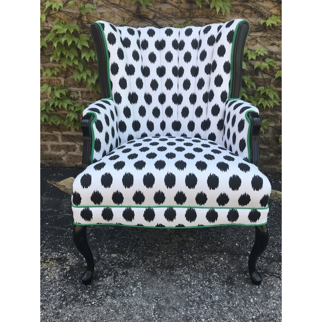 2000s Vintage Modern Funky Ikat Chair For Sale - Image 5 of 8