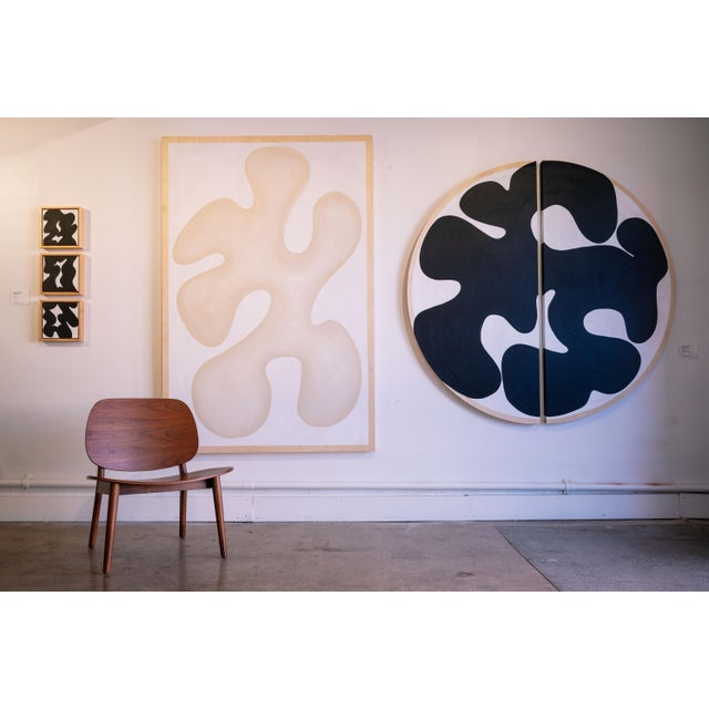 Abstract Abstract Genuflexion 9 Medallion Diptych For Sale - Image 3 of 4