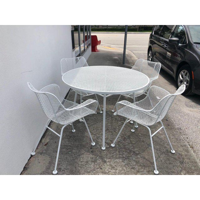 Woodard Sculptura Patio Dining Table and Chairs Set For Sale - Image 11 of 13