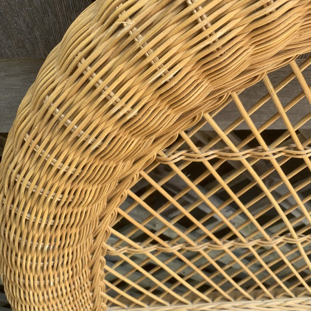 Vintage Wicker Headboards- a Pair For Sale - Image 12 of 13