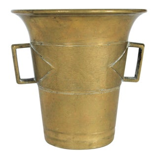 Apothecary Brass Mortar For Sale