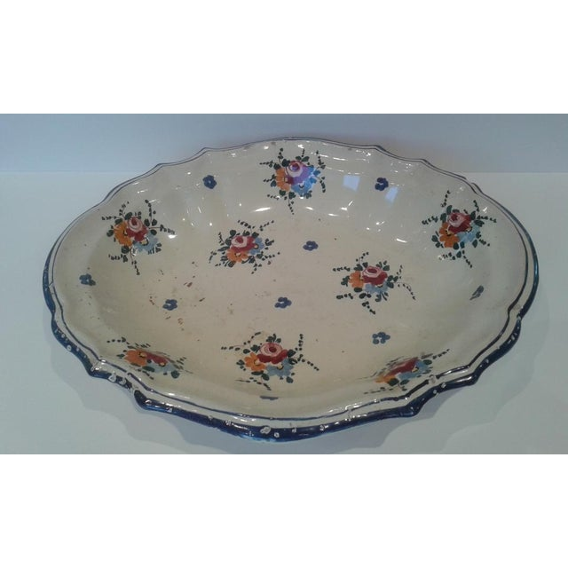 Vintage Hand-Painted Italian Fruit Platter For Sale - Image 12 of 12