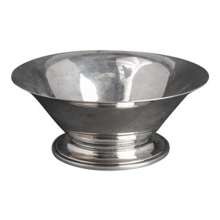 Georg Jensen Silver Footed Bowl with Flared Rim For Sale
