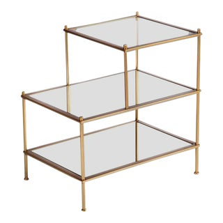 Jayden 3-Tiered Mirrored Side Table For Sale