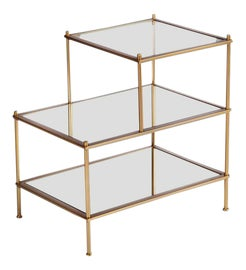 Image of Mirrored Glass Side Tables