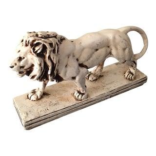 1910 Don Speer Concrete Lion Sculpture