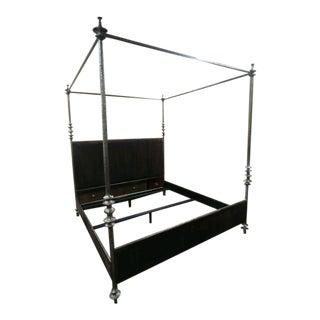 Henredon Furniture 1945 Collection Lafayette King Metal Canopy Bedframe For Sale