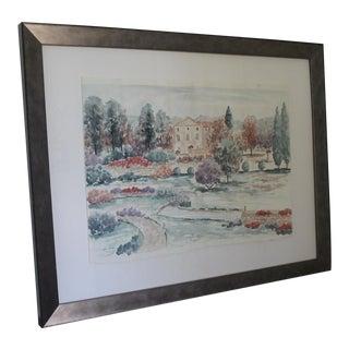 Original Watercolor Landscape For Sale