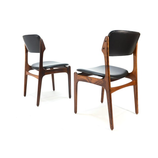Erik Buck Model 49 Rosewood Dining Chairs - Set of 8 - Image 5 of 10