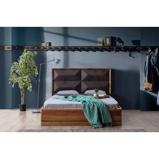 Contemporary Upholstered California King Wood Bedframe Preview