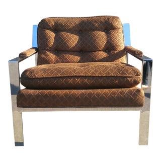 Cy Mann Chrome Flatbar Lounge Chair