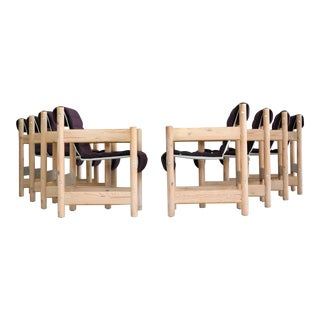 Set of Eight Børge Mogensen Style Dining Chairs in Pine, Danish, Midcentury For Sale