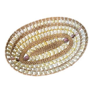 Handmade Seashells Basket For Sale