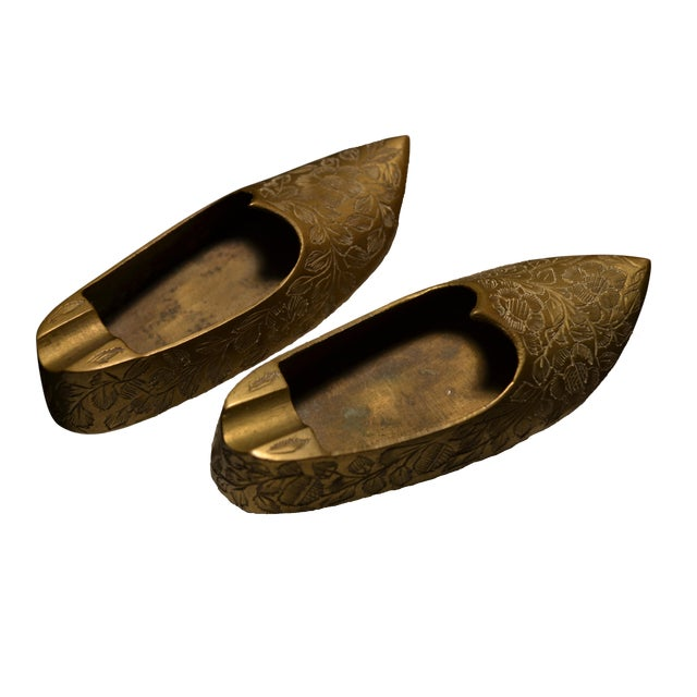 Indian Brass Slippers - A Pair For Sale