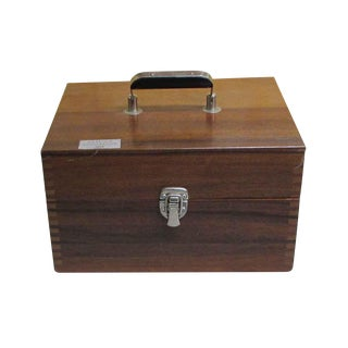Scientific Apparatus in Walnut Carrying Case For Sale