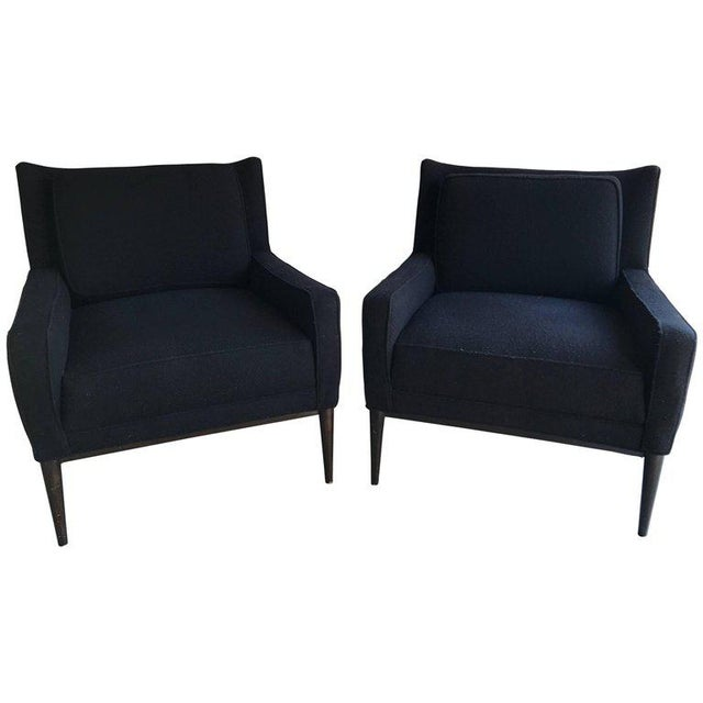 Textile Pair of Lounge Chairs by Paul McCobb For Sale - Image 7 of 7
