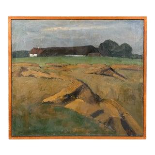 1940 Hay Field Farmlands Landscape For Sale