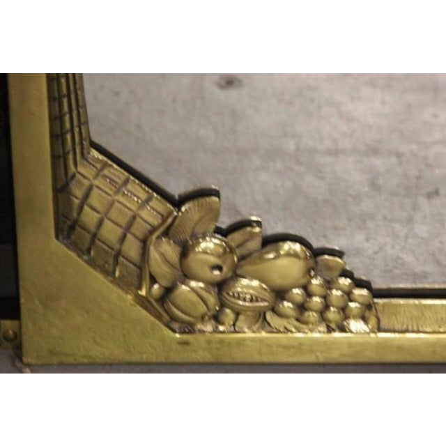 Art Deco French Art Deco Brass Mirror For Sale - Image 3 of 4