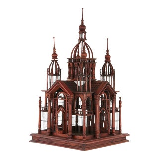 Victorian Style Raj Palace Wire Birdcage With an Abundance of Details For Sale