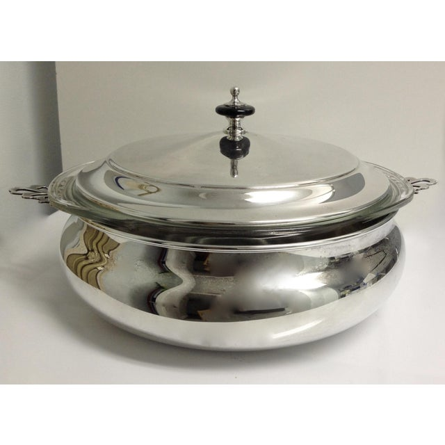 1970s Silver Plate Lidded Chapin Dish Server Bowl - 3 Pieces For Sale - Image 5 of 10