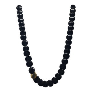 Tiffany & Co. Black Jade and 18k Necklace For Sale