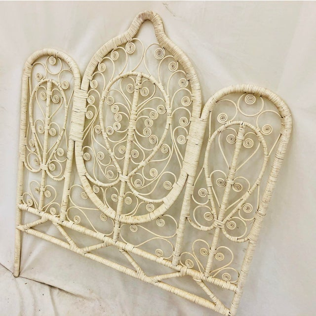 Vintage Bohemian Butterfly Headboard For Sale In Raleigh - Image 6 of 9