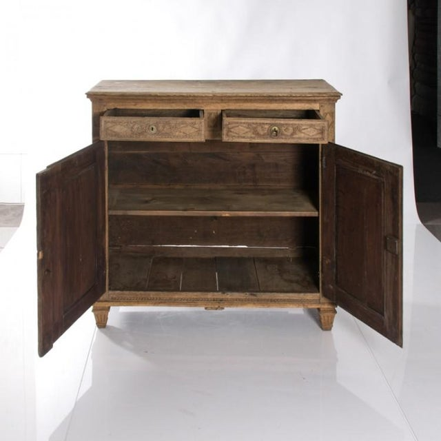 Country 19TH CENTURY BLEACHED OAK BUFFET For Sale - Image 3 of 10