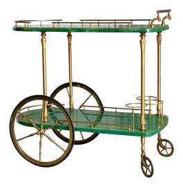 Image of Hollywood Regency Bar Carts and Dry Bars