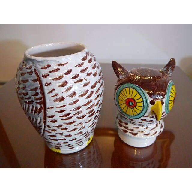 Mid Century Italian Owl Cookie Jar For Sale - Image 4 of 7