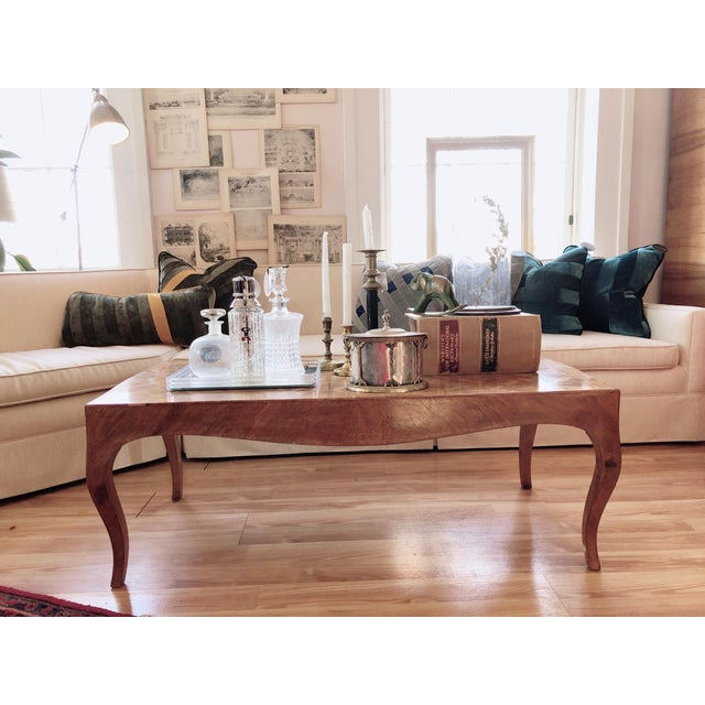 Lovely Marquetry Wooden Inlay Coffee Table For Sale - Image 9 of 10