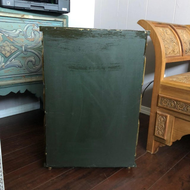 1980s 1980's Vintage Hand Painted Moroccan Style Chest For Sale - Image 5 of 8