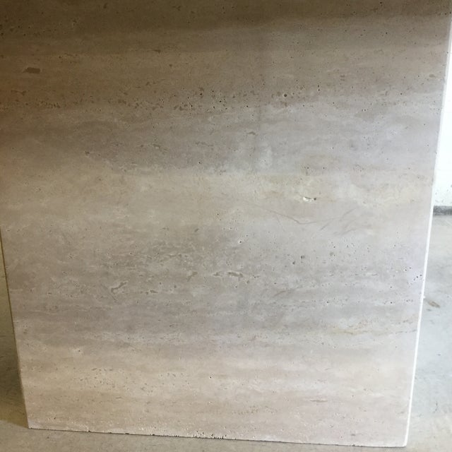 Travertine Marble Dining Table or Desk For Sale - Image 4 of 13