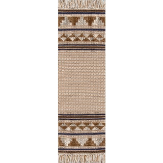 "Esme Ivory Hand Woven Area Rug 2'3"" X 7'6"" Runner For Sale"