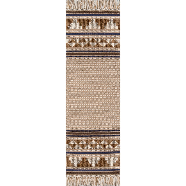 """Esme Ivory Hand Woven Area Rug 2'3"""" X 7'6"""" Runner For Sale"""