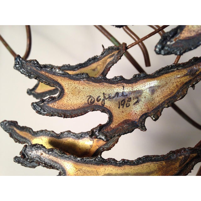 Curtis Jere Signed 1982 Alpine Trees Wall Sculpture - Image 7 of 11