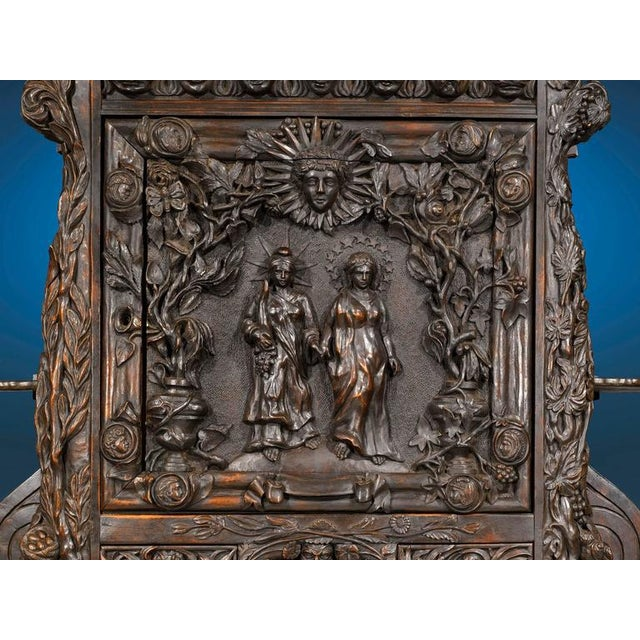 Early 20th Century Louisiana World's Fair Walnut Cabinet For Sale - Image 5 of 8