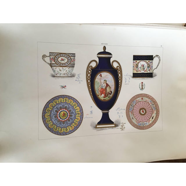 Porcelaine Tendre De Sevres, 36 Hand Colored and Gilded Plates, 1891-Folio For Sale - Image 4 of 8