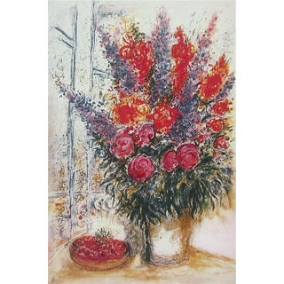 Bowl of Cherries, Limited Edition Offset Lithograph, Marc Chagall For Sale