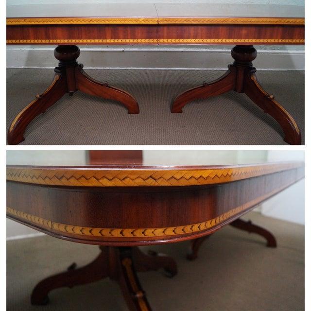 Alfonso Marina Hand Crafted Mahogany Inlaid Table - Image 8 of 10