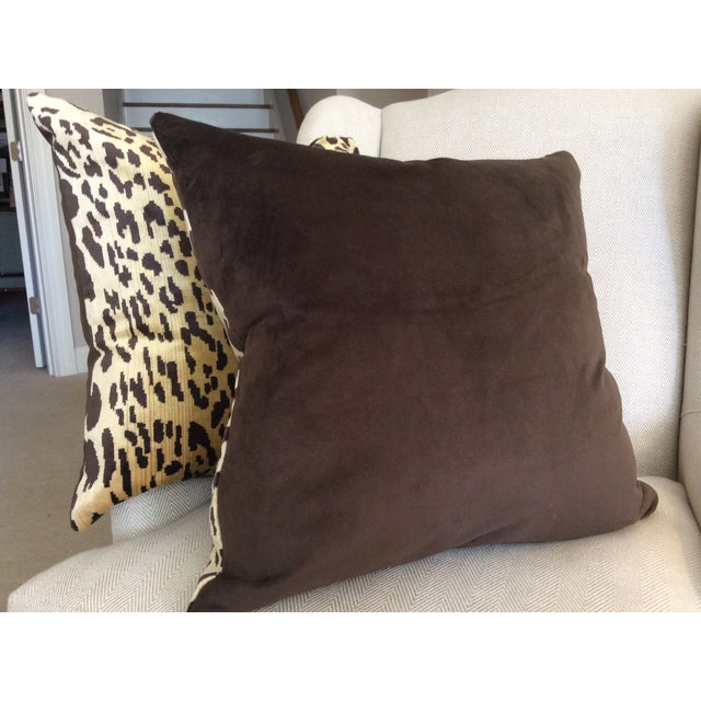 Scalamandre Leopardo Down Pillows - a Pair - Image 4 of 4