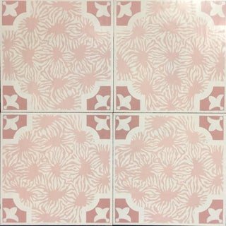 Celerie Kemble Blushing Blooms Hardwood Tile - 1 Box, 14 Tiles For Sale