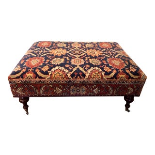 Carpeted-Covered Plantation Bench For Sale