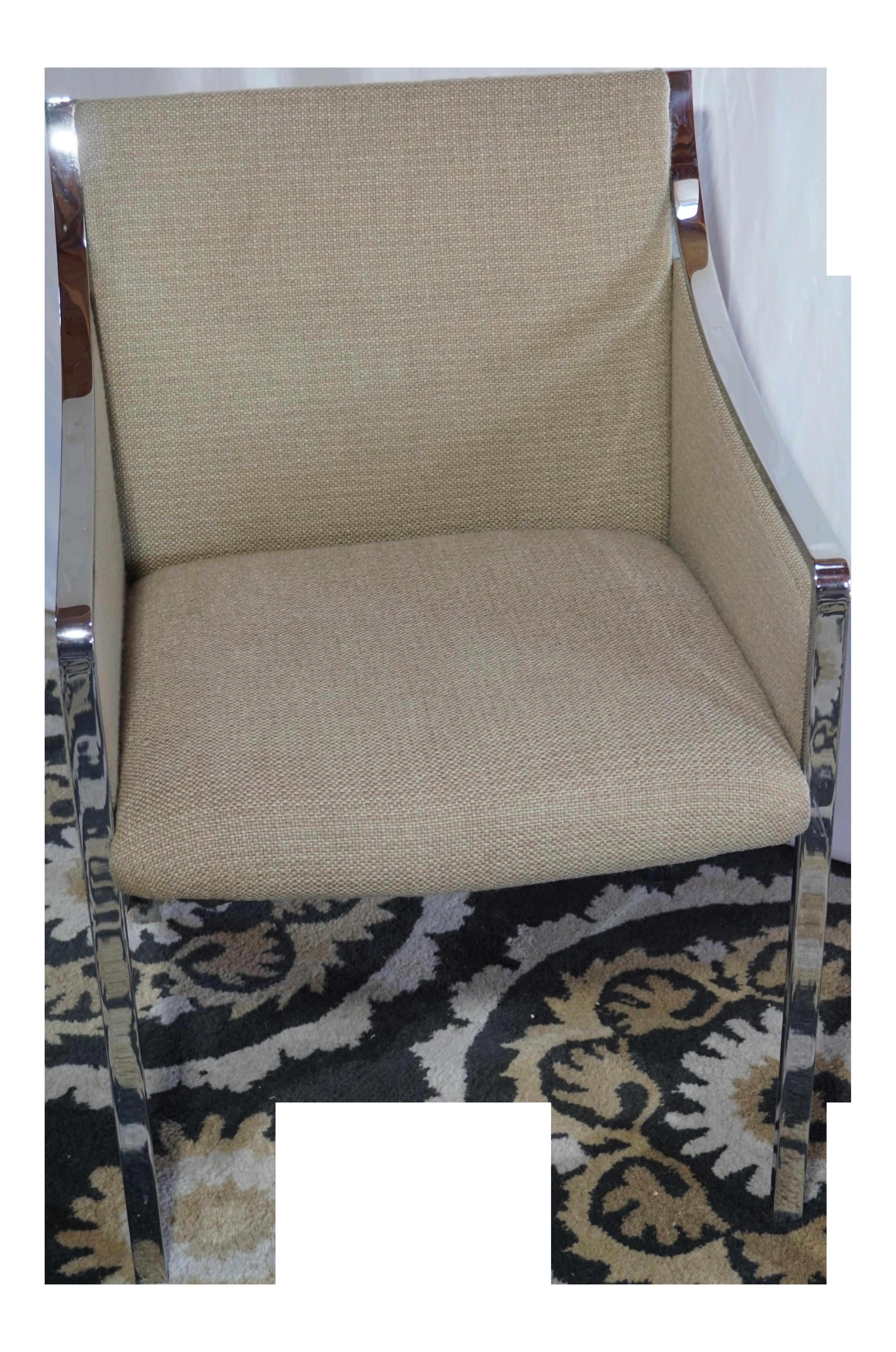 Bert England For Stow Davis Chrome Chair
