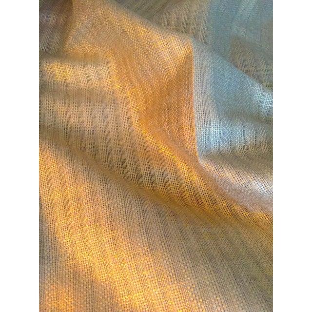 Designer's Guild Sassiere Gold Linen Wide Width Fabric - 2.25 Yards For Sale - Image 10 of 10